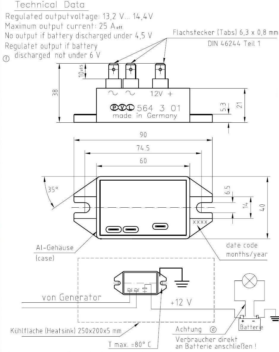 Tndsystem Ducati 160 Wiring Diagram Teknisk Beskrivning Samt Kopplingsschema Laddregulator 564 301